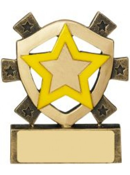 8cm Yellow Star Mini Shield