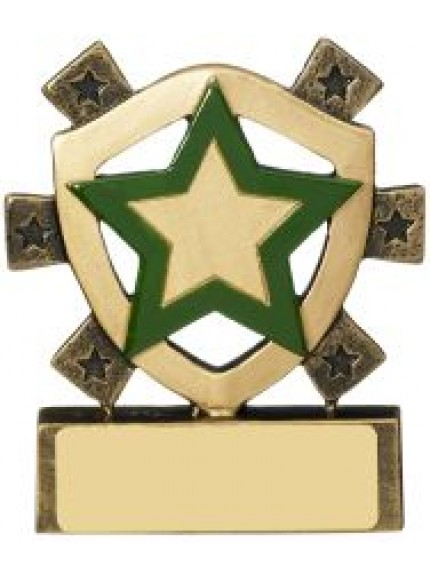 8cm Green Star Mini Shield