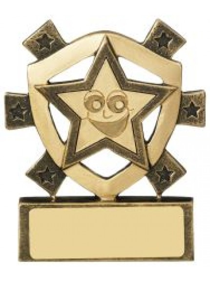 8cm Smiley Star Mini Shield