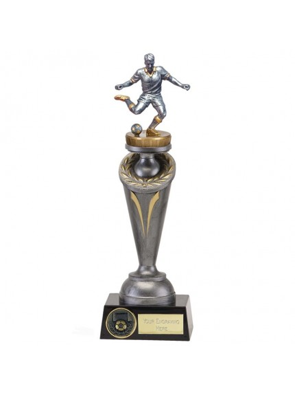 25.5cm Crucial Footballer Flexx in silver and gold