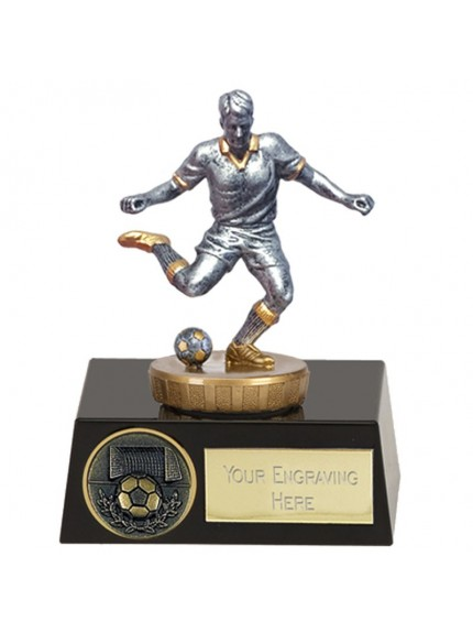 11cm Meridian Footballer Flexx in silver and gold