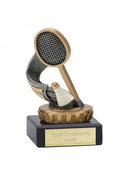 Badminton Racket Award on Marble Base