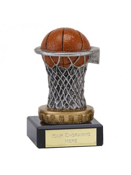 Plastic Basketball in Net Award on Marble Base