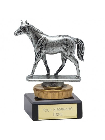 10cm Classic Standing Horse Flexx in silver and gold