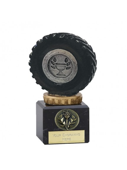 12cm Classic Tractor Wheel Flexx in silver and gold