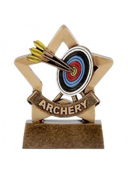 Mini Star Archery Award with Arrows and Board Design