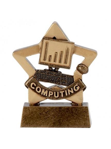 Mini Star Computing Trophy in Resin Material