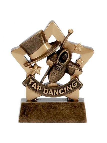 Star Tap Dancing Award with Hat, Shoes and Cane - Available in 2 sizes