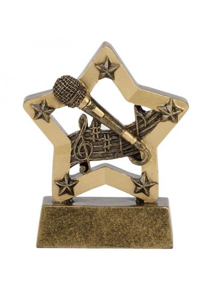 Resin Star Music/Karaoke Award - Available in 2 sizes