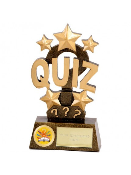 Pinnacle Quiz Award with Question Mark and Star Design