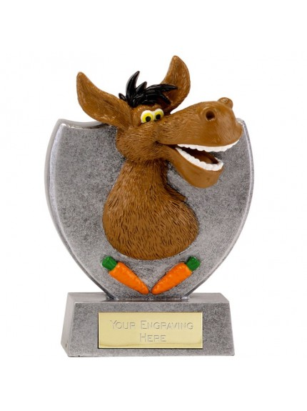 14cm Donkey Booby Prize in gold and bronze