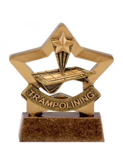 8.5cm Mini Star Trampolining in gold and bronze