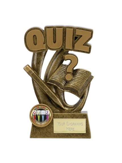 14cm Epic Quiz in gold and bronze