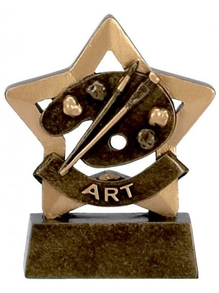 School Resin Mini Star Art Award