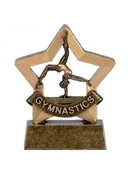 Female Gymnastics Mini Star Resin Award