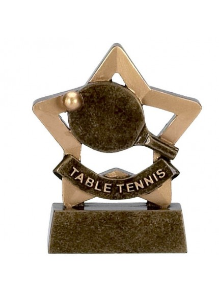 Table Tennis Mini Star Resin with Bat