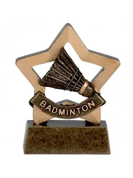 Mini Star Badminton Award with Shuttlecock Design