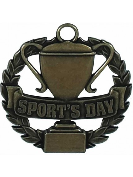 Sports Day Cup And Laurel Wreath Medal
