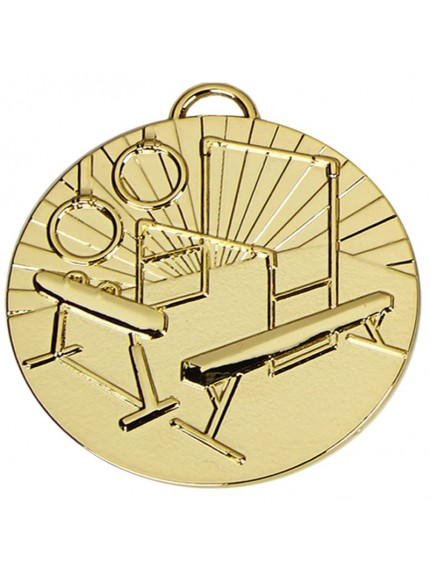 5cm Target Gymnastics Medal With Ribbon