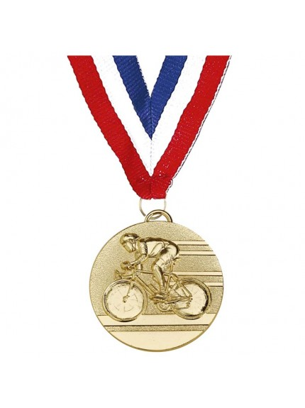 Target50 Cycling Medal With Ribbon - Available in Gold and Silver
