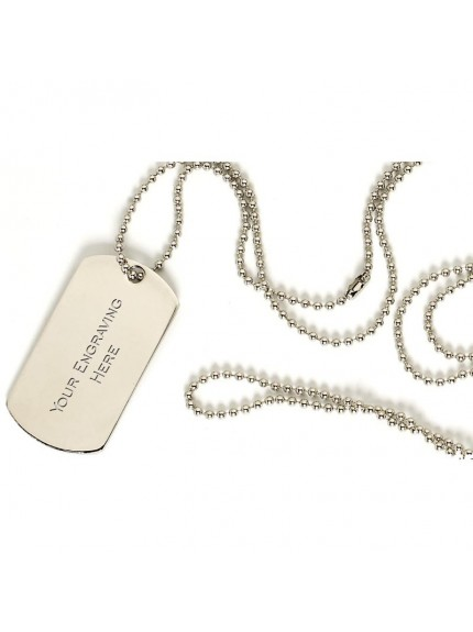 76cm Silver Chain for a Dog Tag