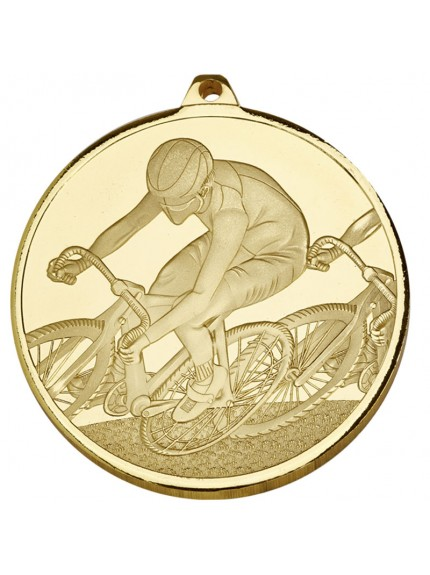 Frosted Glacier Cycling Medal - Available in Gold, Silver and Bronze