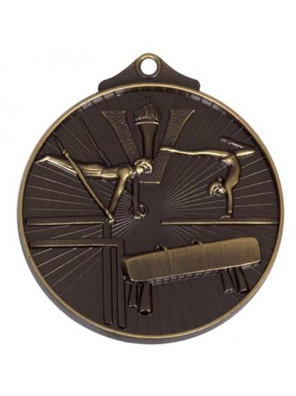 Gymnastics Themed 52mm Economy Medal