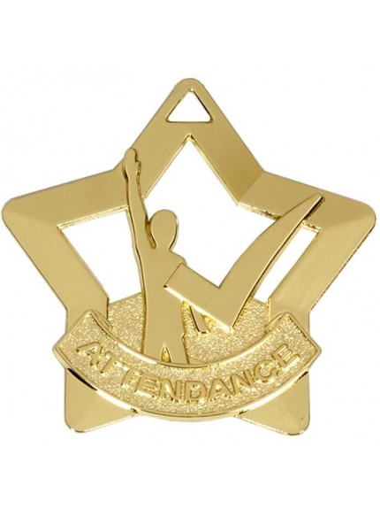 Mini Star Attendance Medal Gold