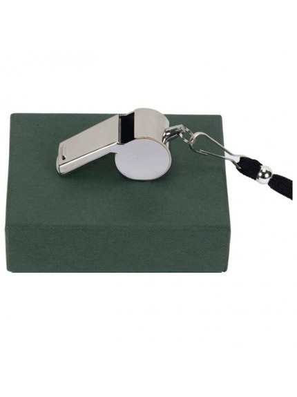 Hampton Silver Plated Referee Whistle - Supplied complete in presentation box