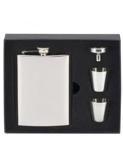 8oz Vision Mirror Polish Flask in silver