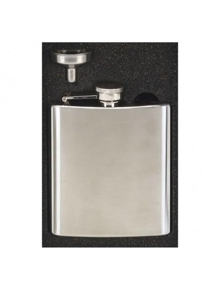 6oz Vision Satin Polish Flask in satin