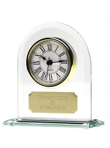 17.5cm Endurance Jade Glass Clock