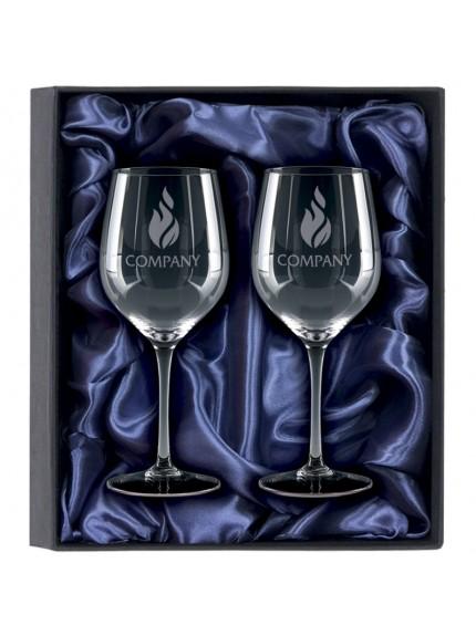 2 White Wine Glasses Gift Set