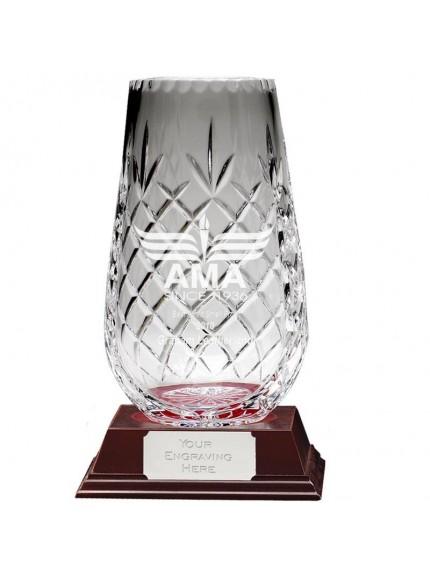 20x8cm Spire Vase Knighton Crystal in clear