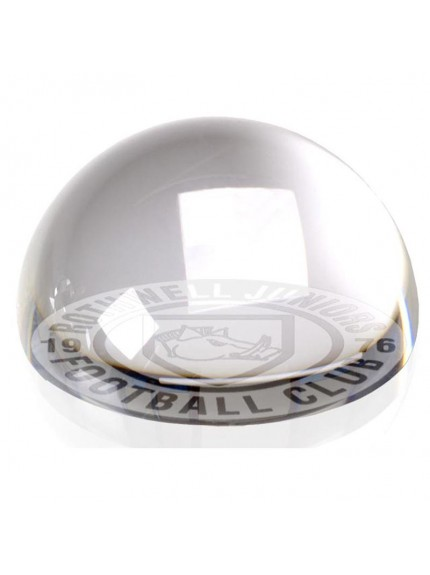 8cm Dome Paperweight in clear