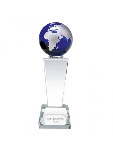 Unite Blue Globe Crystal Clear Award
