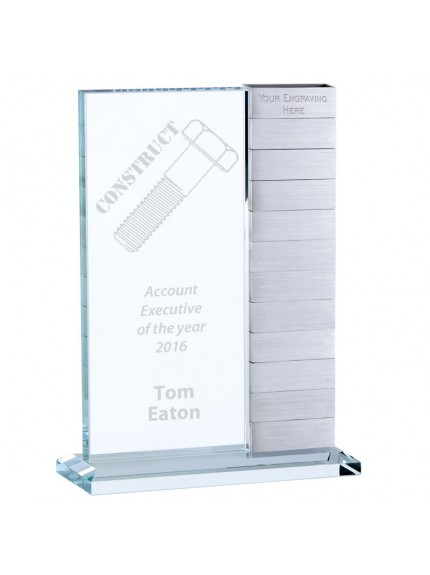 25.5cm Crystal & Silver Annual Award