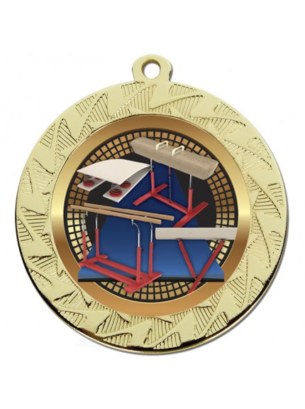 Prism70 Gymnastics Medal - Available in Gold and Silver