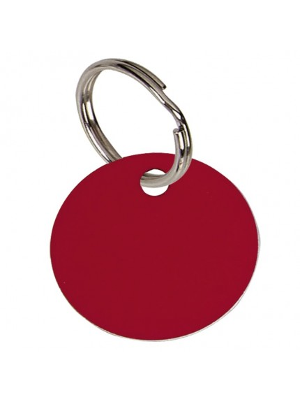 3.2cm Round Red Anodised Alum Tag in red