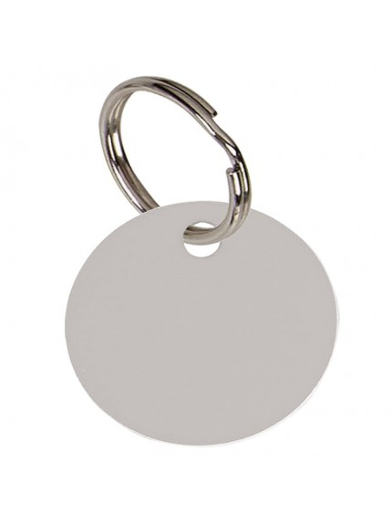 3.2cm Round Silver Anodised Alum Tag in silver
