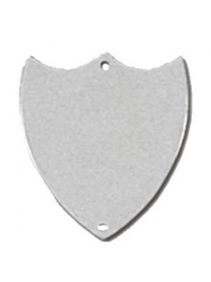 36mm Flat Silver Side Shield