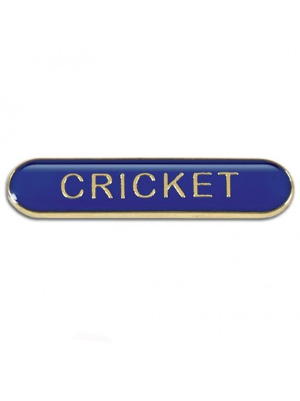 4X0.8cm Bar Badge Cricket