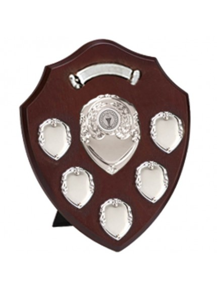 Triumph Annual Shield With Top Scroll in Rosewood and Silver - Available in 4 Sizes