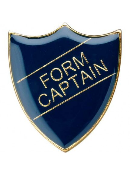 3cm School Shield Badge (Form Captain) - Available in 4 Colours