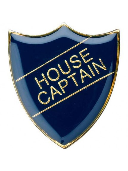 3cm School Shield Badge (House Captain) - Available in 4 Colours