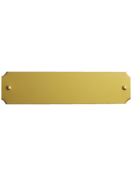 Gold Engraving Plate with Dummy Pins and Scalloped Corners