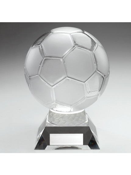 The Ultimate Glass Football Trophy Complete with Quality Presentation Case - Available in 1 size only