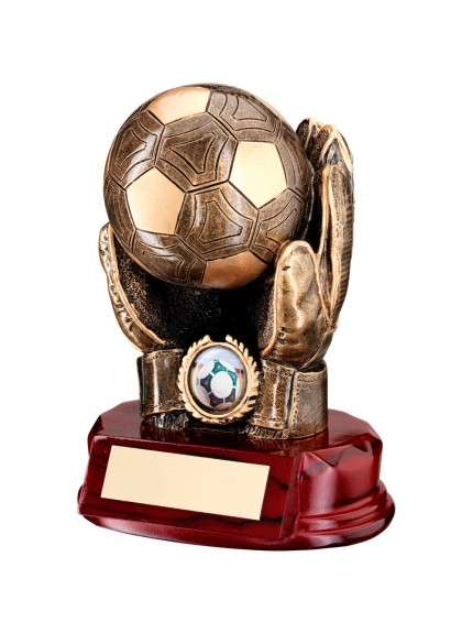 Awesome Heavyweight Goalkeeper Resin Hand and Ball Award - Available in 1 size only