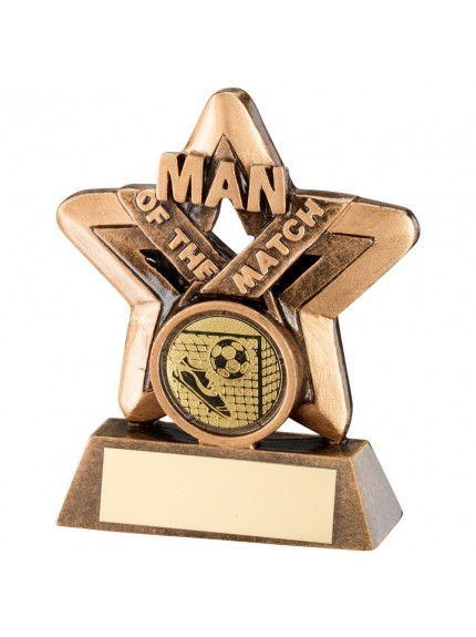 Bronze & Gold Man Of The Match Mini Star Darts Trophy