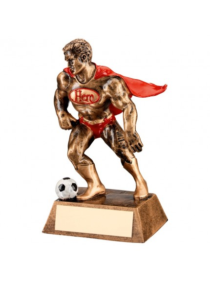 Red Caped Football Hero Collection Resin Award - Available in one size only.